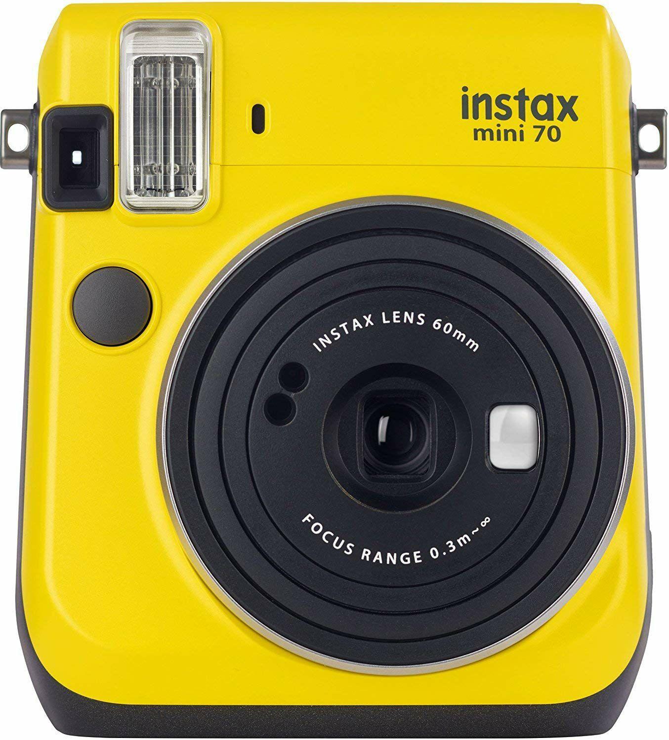Fujifilm Instax Mini 70 Sofortbildkamera in gelb