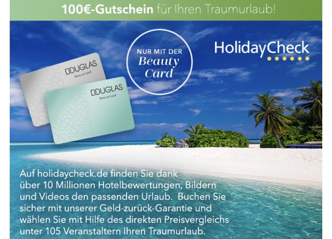 100€ HolidayCheck Gutschein ohne MBW bei Einkauf bei Douglas ab 99€