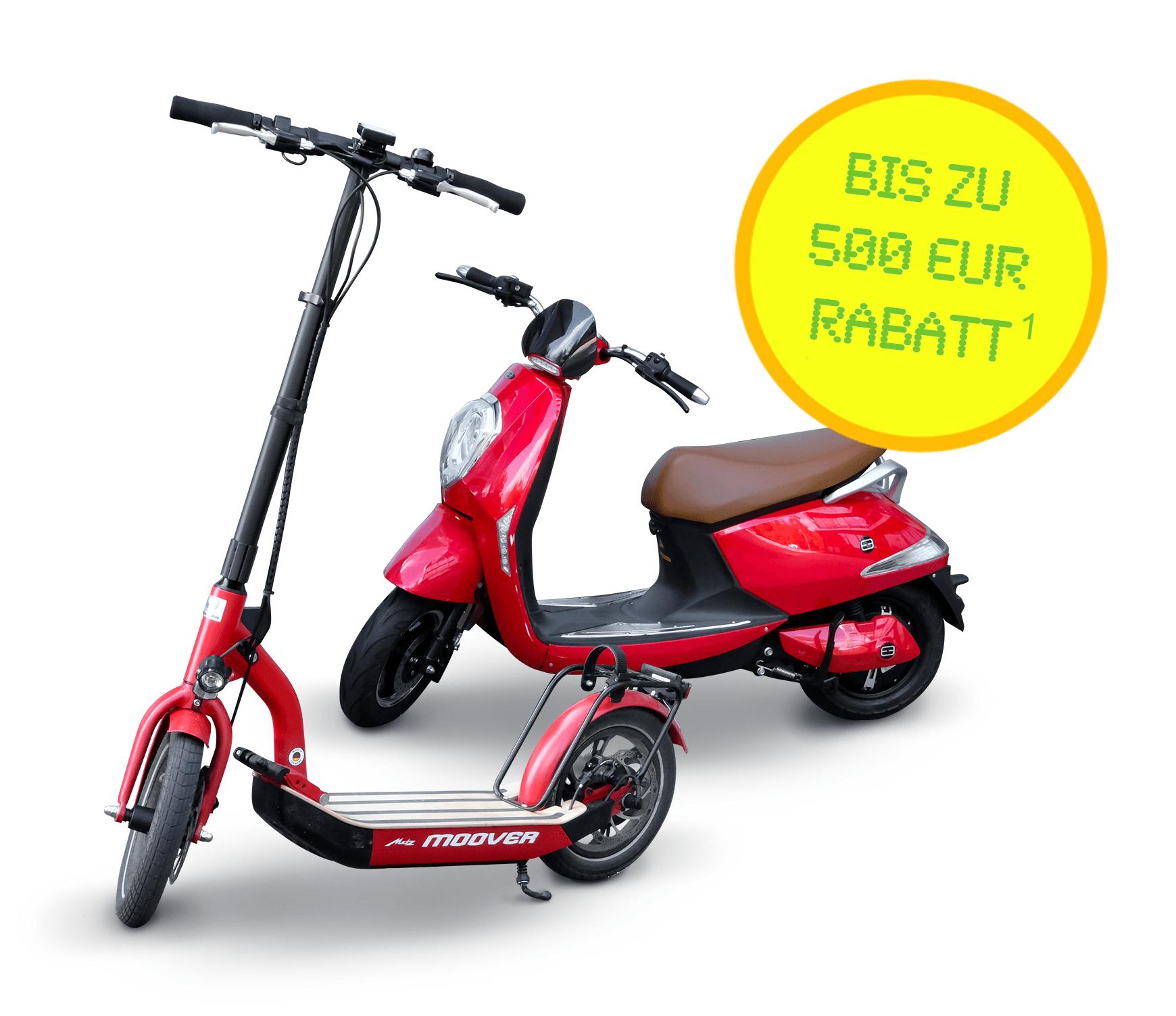 E-Roller und E-Scooter mit bis zu 500 EUR Rabatt! (mit deutscher Straßenzulassung)