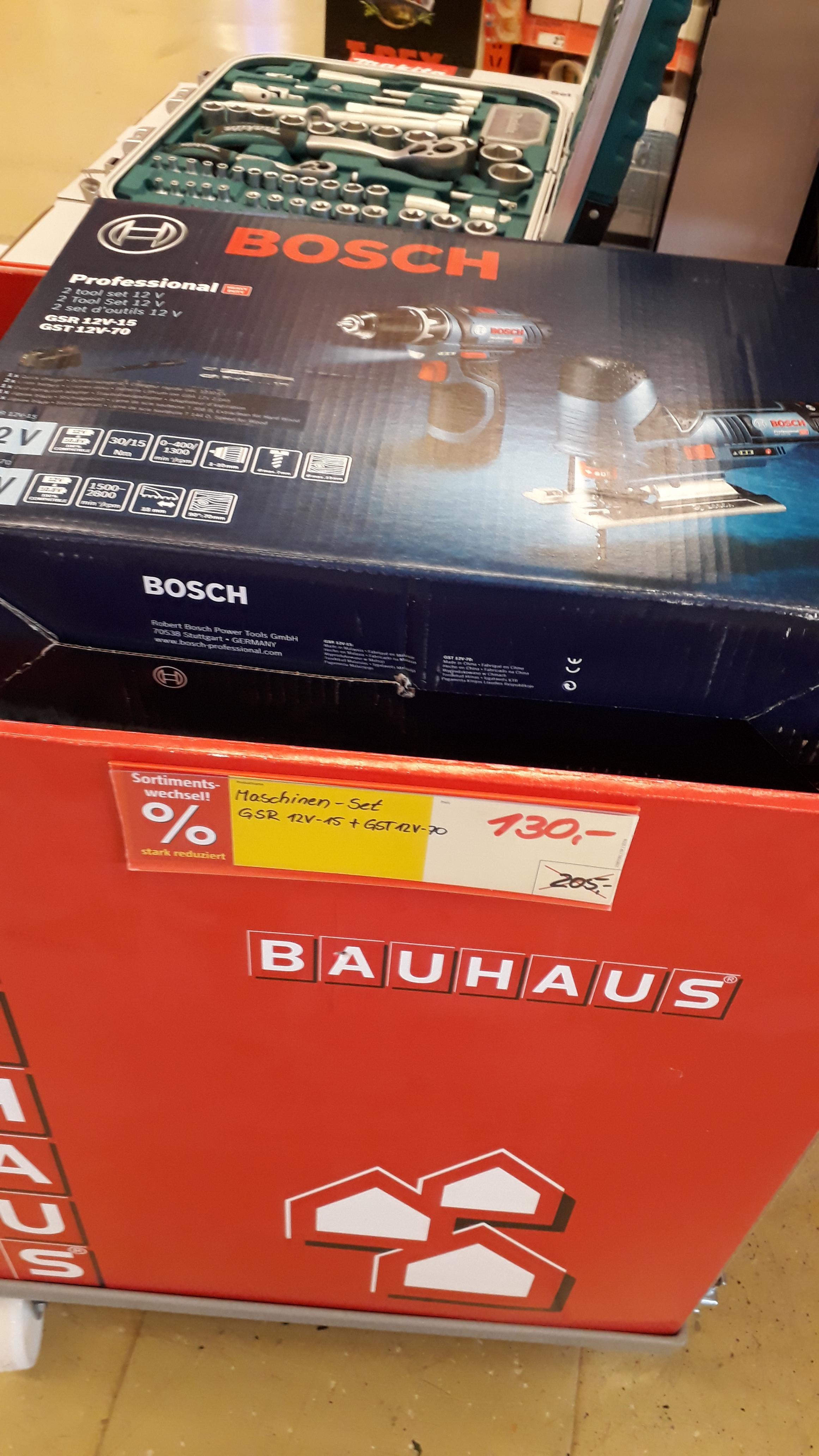 [Lokal] Bosch GSR 12V-15 + GST 12V-70 set Magdeburg Bauhaus