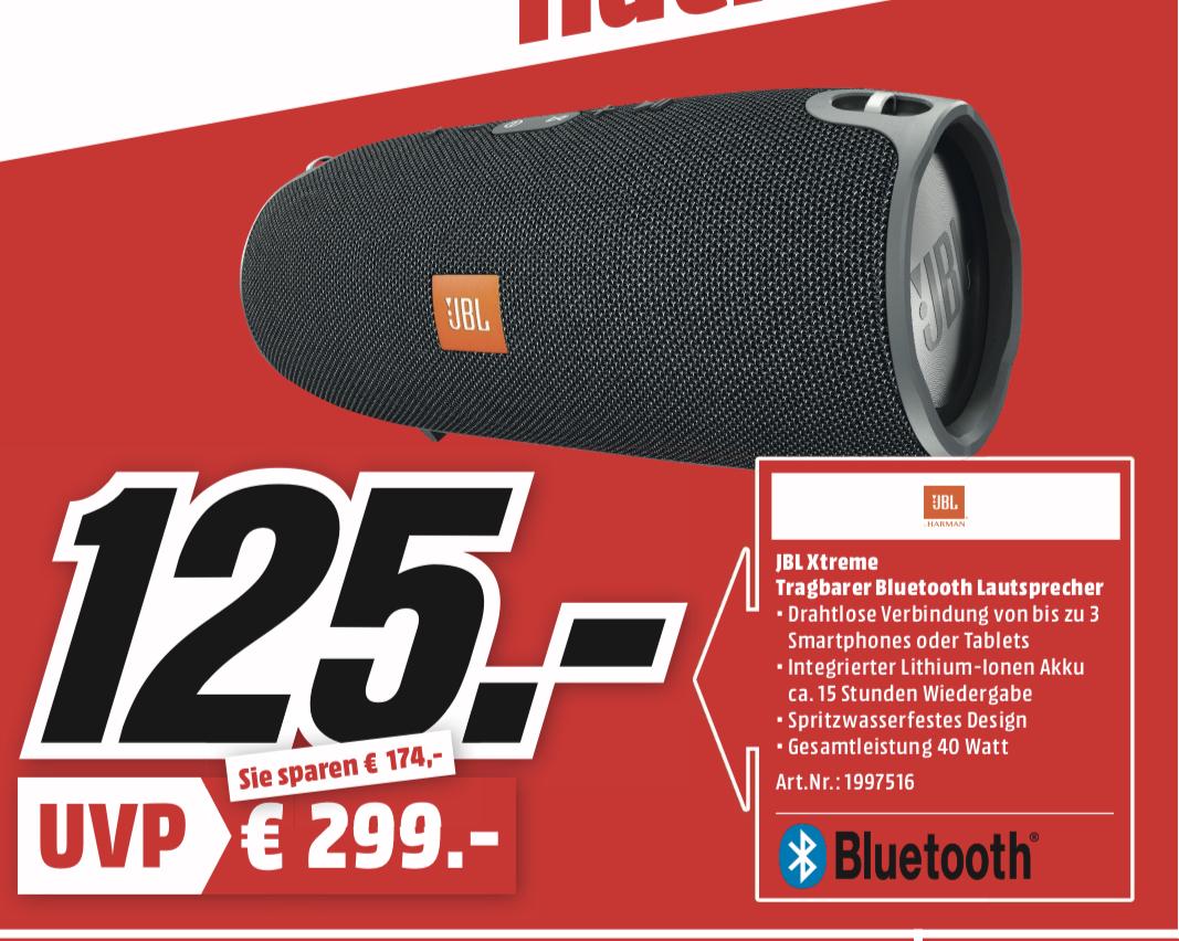 "[Lokal: Media Markt Trier] JBL Xtreme Bluetooth Lautsprecher   Sony KD-55XF9005 - 55"" 4K Smart TV (VA, Direct LED, 120Hz, Android) für 799€"