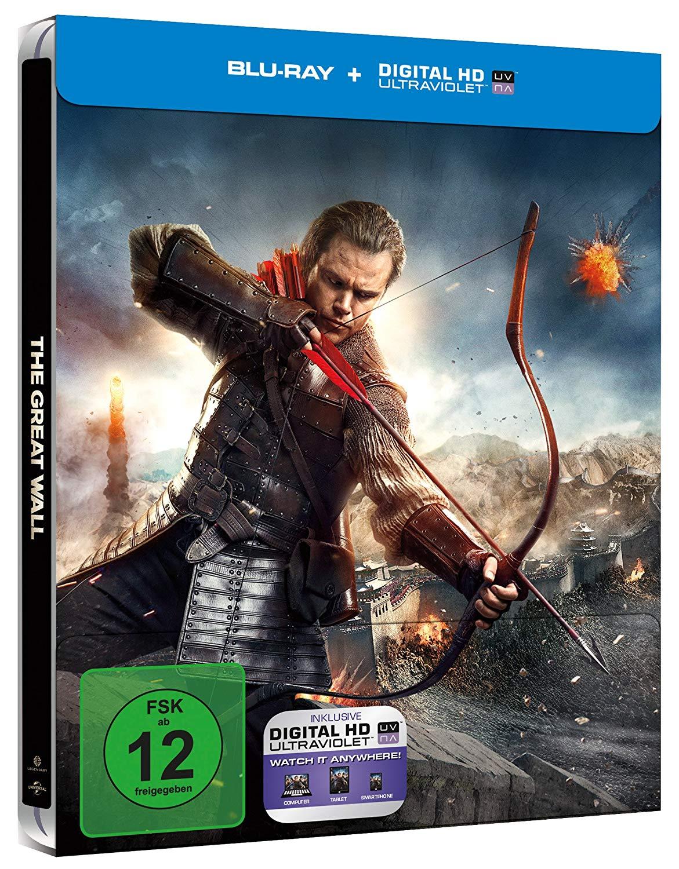 [Amazon Prime] The Great Wall (Blu-ray Steelbook) für 8,48€ inkl. Versand