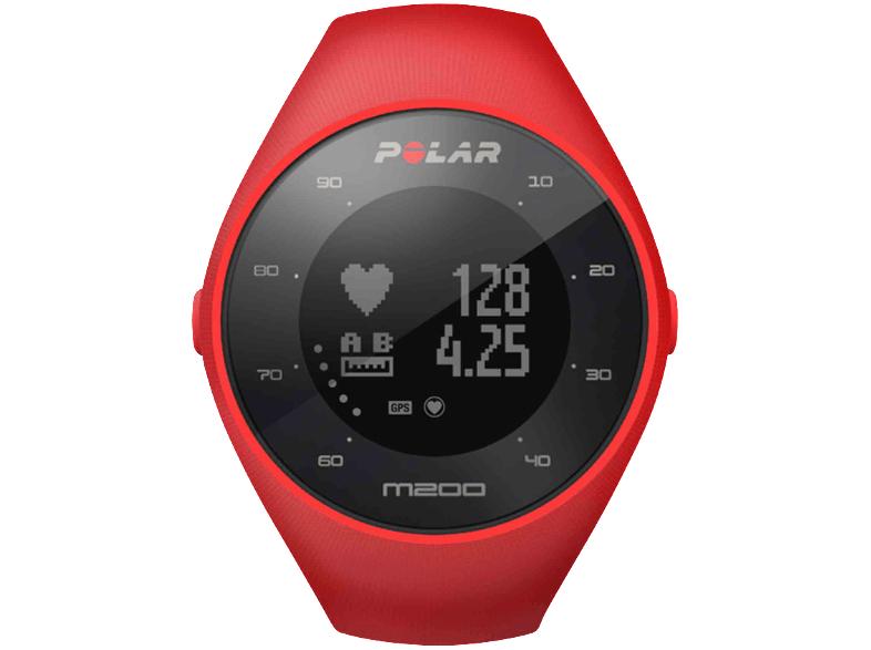 POLAR GPS-Sportuhr M200 Gr. M/L, rot (90061217)
