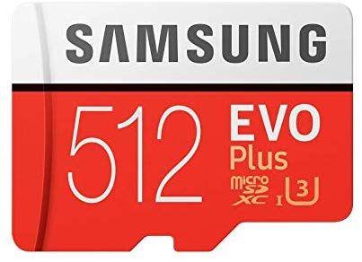 Samsung EVO Plus microSD Karte 512GB mit SD Karten Adapter