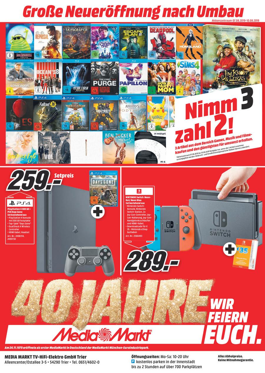 Nintendo Switch im MM Trier mit 35 € eShop-Nintendo Guthaben für 289 €