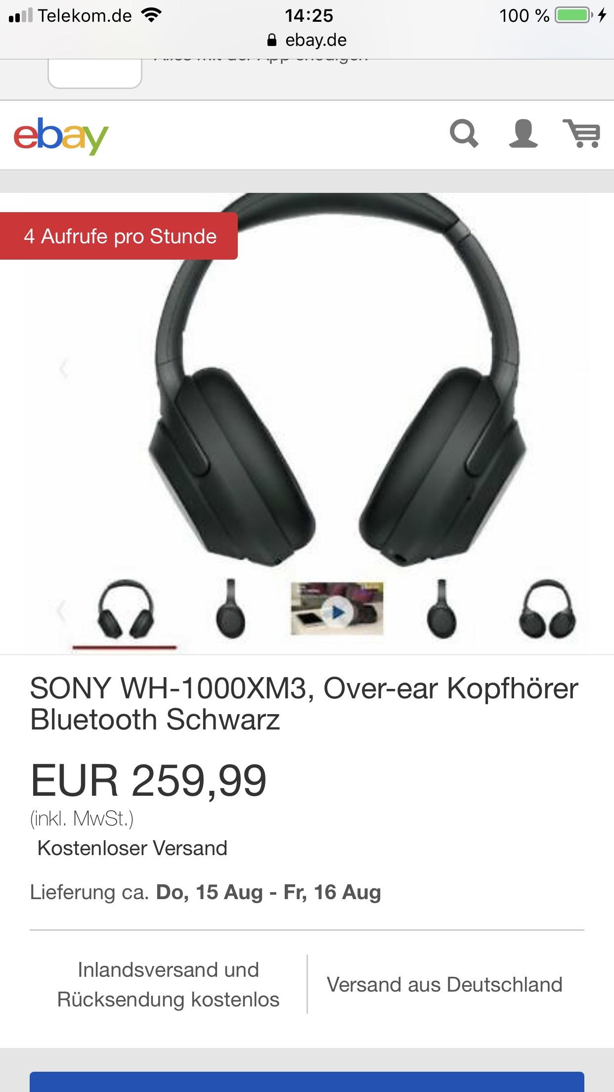 Ebay (MediaMarktMagdeburg) Sony wh-1000xm3 Black