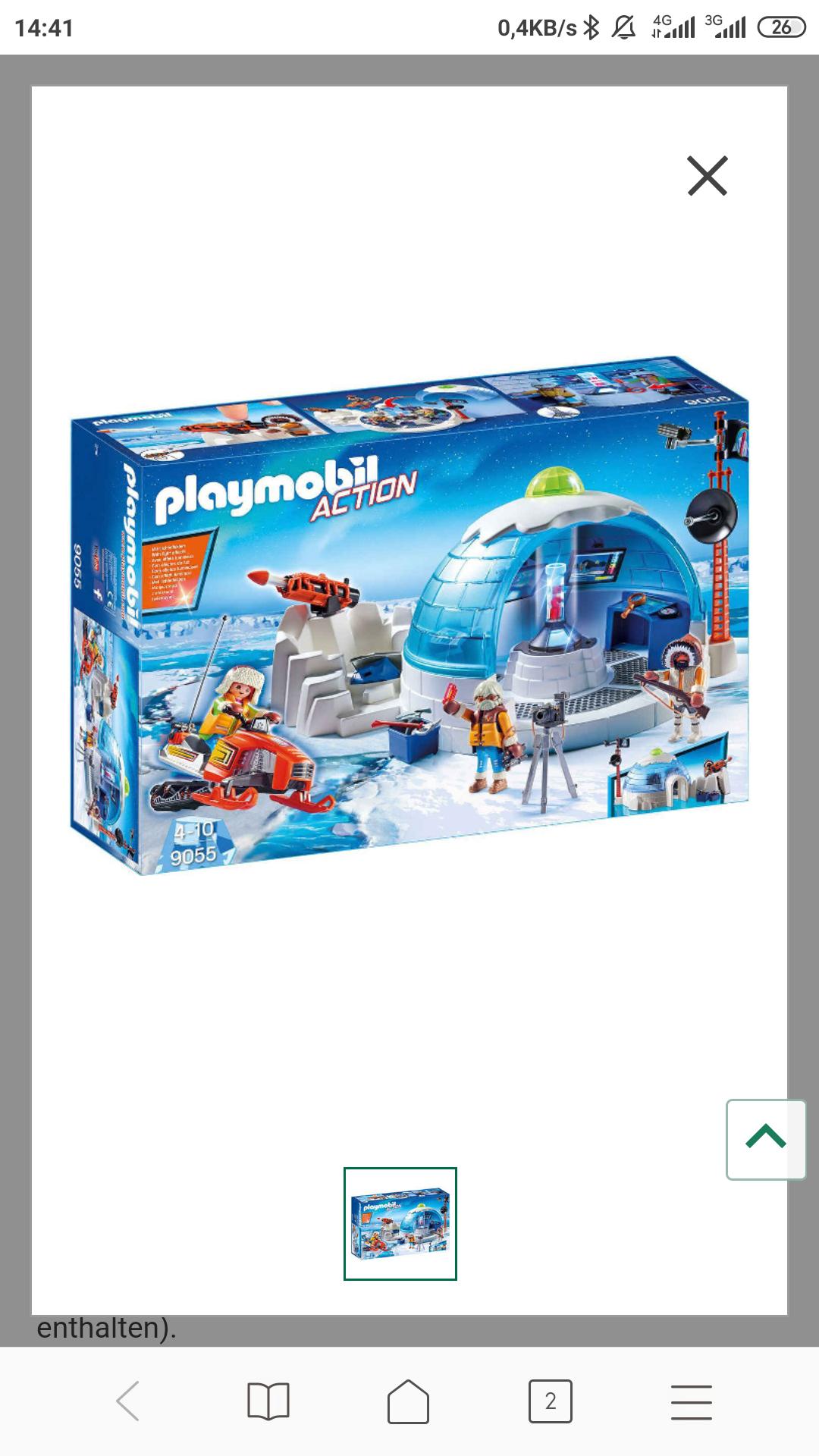 Playmobil Action Polar Ranger Hauptquartier 9055 Kaufhof Spielzeug mit Filialabholung 9,99