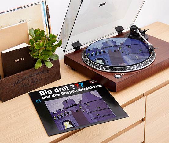 """Tchibo """"Die drei ??? und das Gespensterschloss"""" Picture-Vinyl-LP Schallplatte für EUR 9,00"""