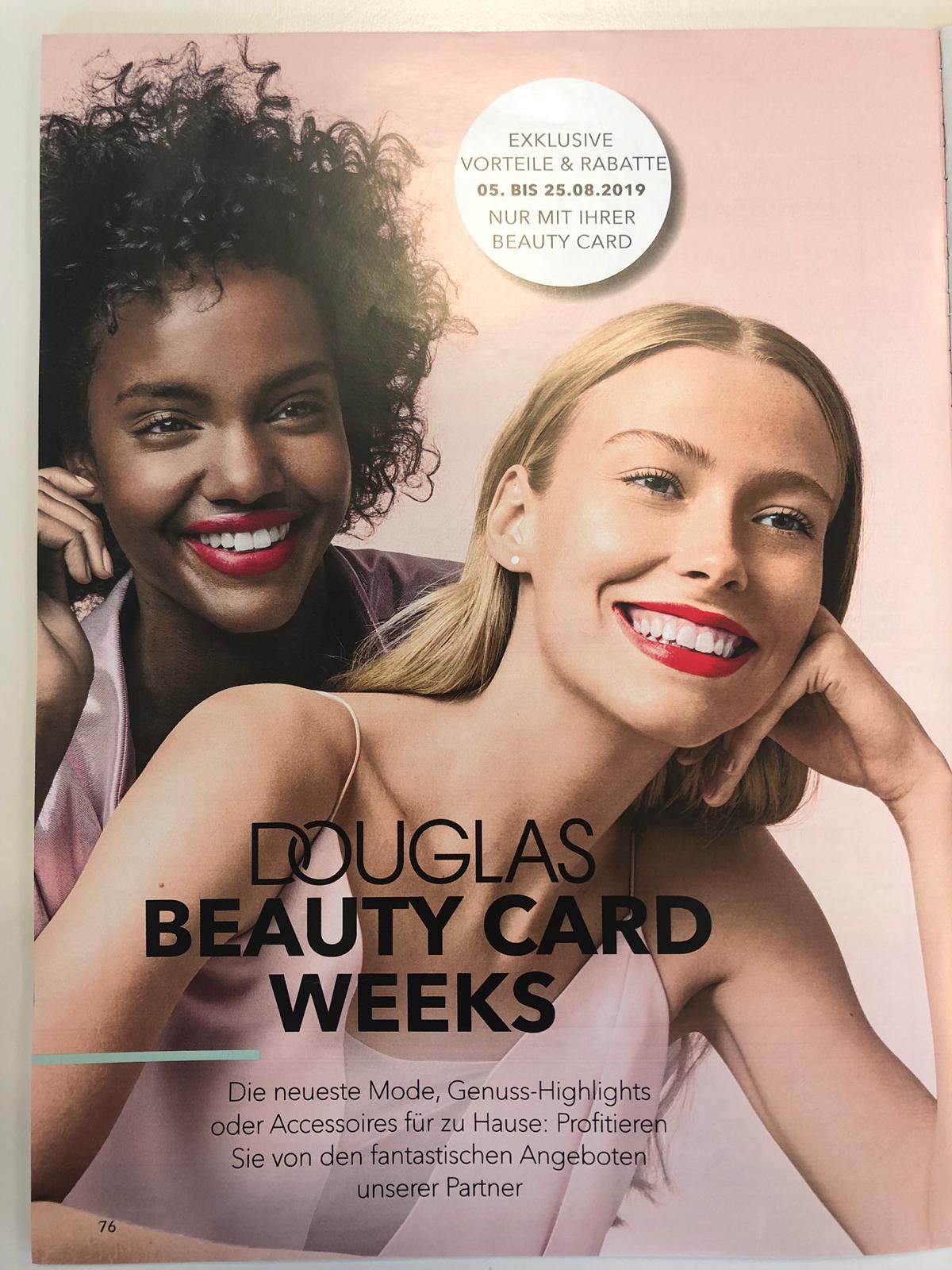 Douglas Beauty Card Week - Gutscheine von Douglas, Christ, About You, Gravis, myToys, Depot und anderen