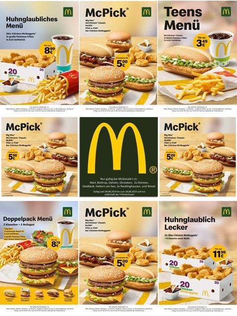 McDonald's Gutschein lokal in Marl, Dorsten, Recklinghausen, Haltern, Wesel, Gladbeck, Dinslaken, Datteln, Bottrop
