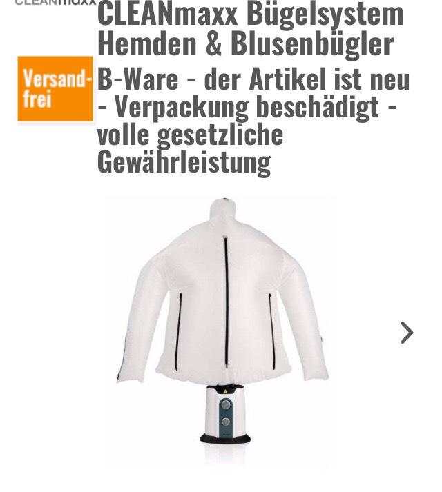 Hitseller - B-Ware - CleanMaxx Hemdenbügler