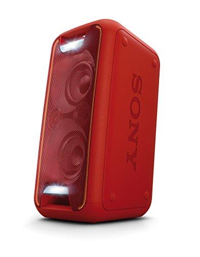 Sony GTK-XB5 Soundsystem 200W Ausgangsleistung, Extra Bass, Bluetooth, NFC, Licht und DJ-Effekte in Rot