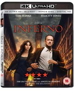 Inferno (4K Ultra HD + Blu-ray + Digital HD) [UHD] für 8,99 GBP (~9,59€)
