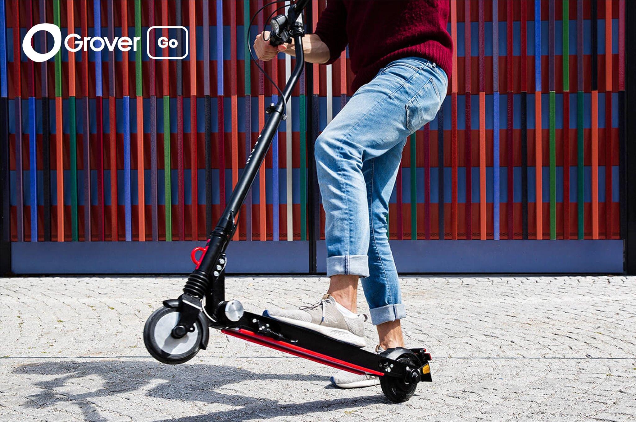 [GROVER] 1 Monat E-Scooter mit Straßenzulassung mieten! (Neu,-Bestandskunden, keine Mindestlaufzeit) + Grover Care