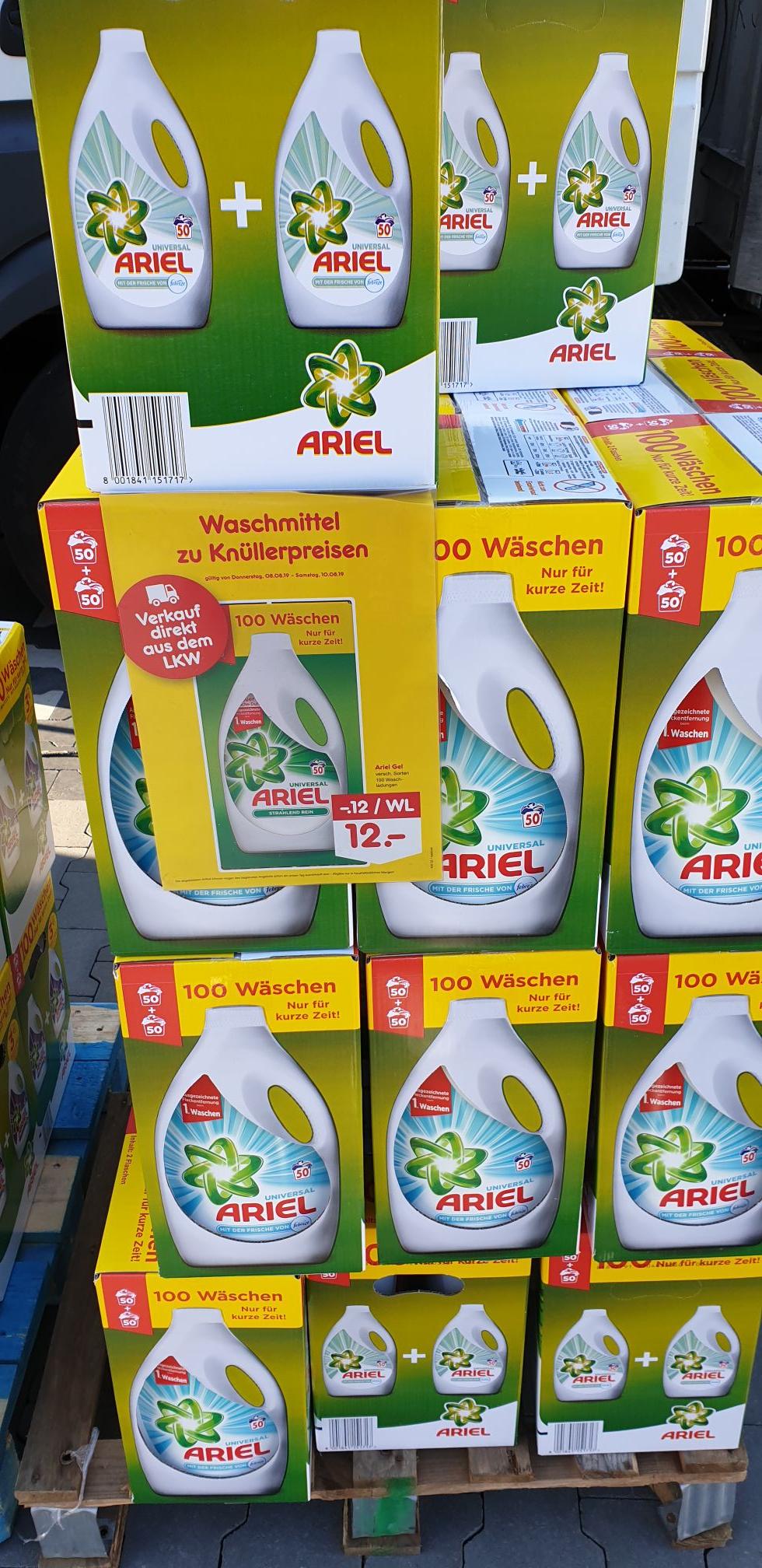 Ariel & Lenor Waschmittel verschiedene Sorten,Pods &Pulver & Flüssig, 100 Wäschen (lokal Mönchengladbach)