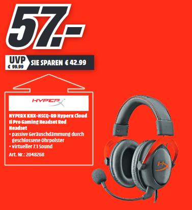 [Lokal MediaMarkt Kempten] Kingston HyperX Cloud II   SanDisk Ultra 3D SSD 1TB  =99€   Logitech MX518 =45€   Kingston HyperX QuadCast =111€