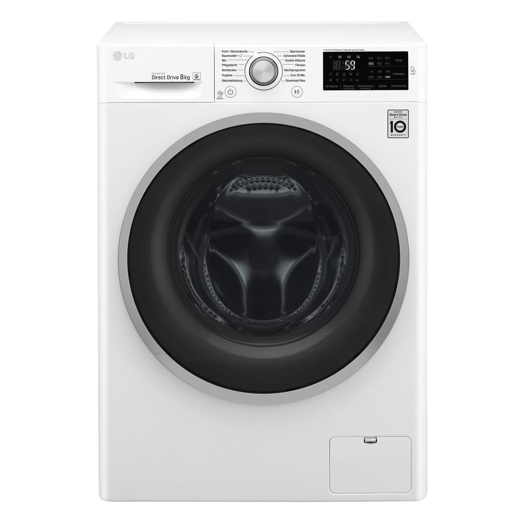 """LG™ - Waschmaschine """"F 14WM 8CN1"""" (8kg,1400UpM,Display,Inverter Direct Drive,A+++] für €357.- [@Real.de]"""