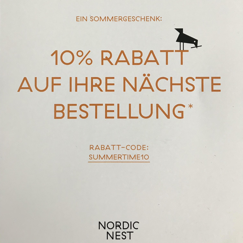 10% Gutschein für NORDIC NEST