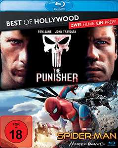 The Punisher + Spider-Man: Homecoming Best of Hollywood 2 Movie Collector's Pack (2 Disc Blu-ray) für 9,99€ (Amazon)