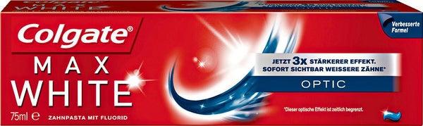 Colgate Max White Optic Zahnpasta, 3er Pack (3 x 25 ml) [Amazon Prime]