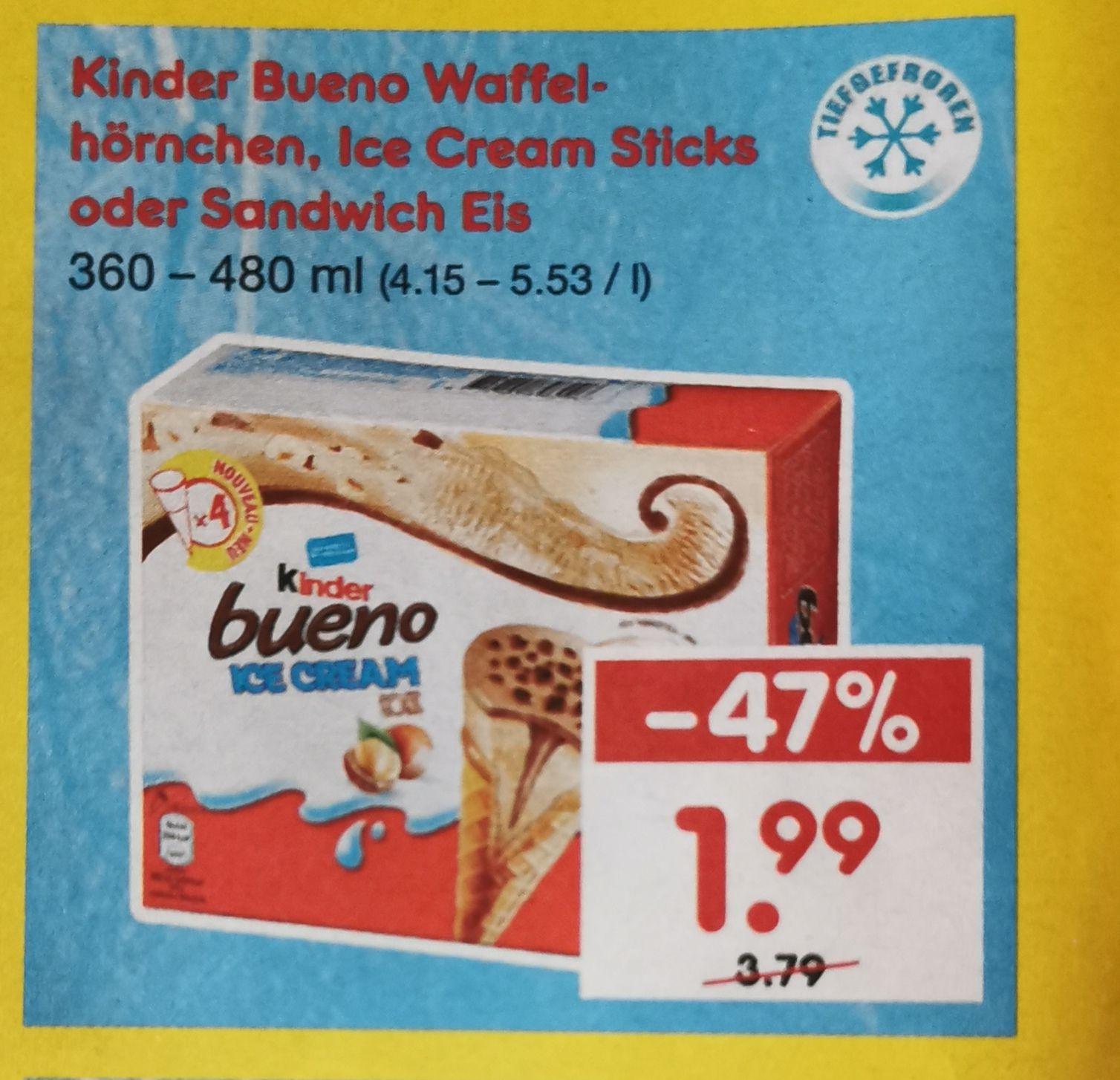 Kinder Bueno Eis in versch. Sorten bei Netto