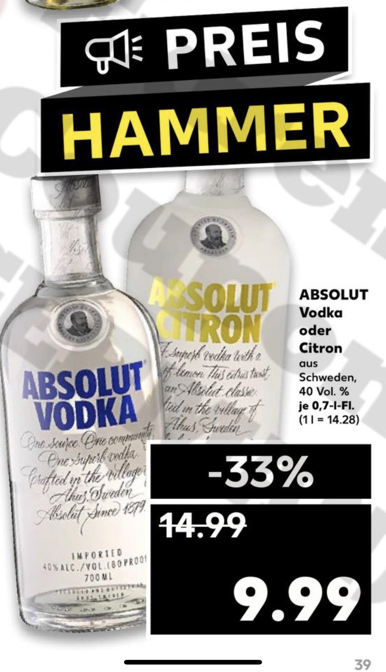 Absolut Vodka 0,7L [Kaufland]