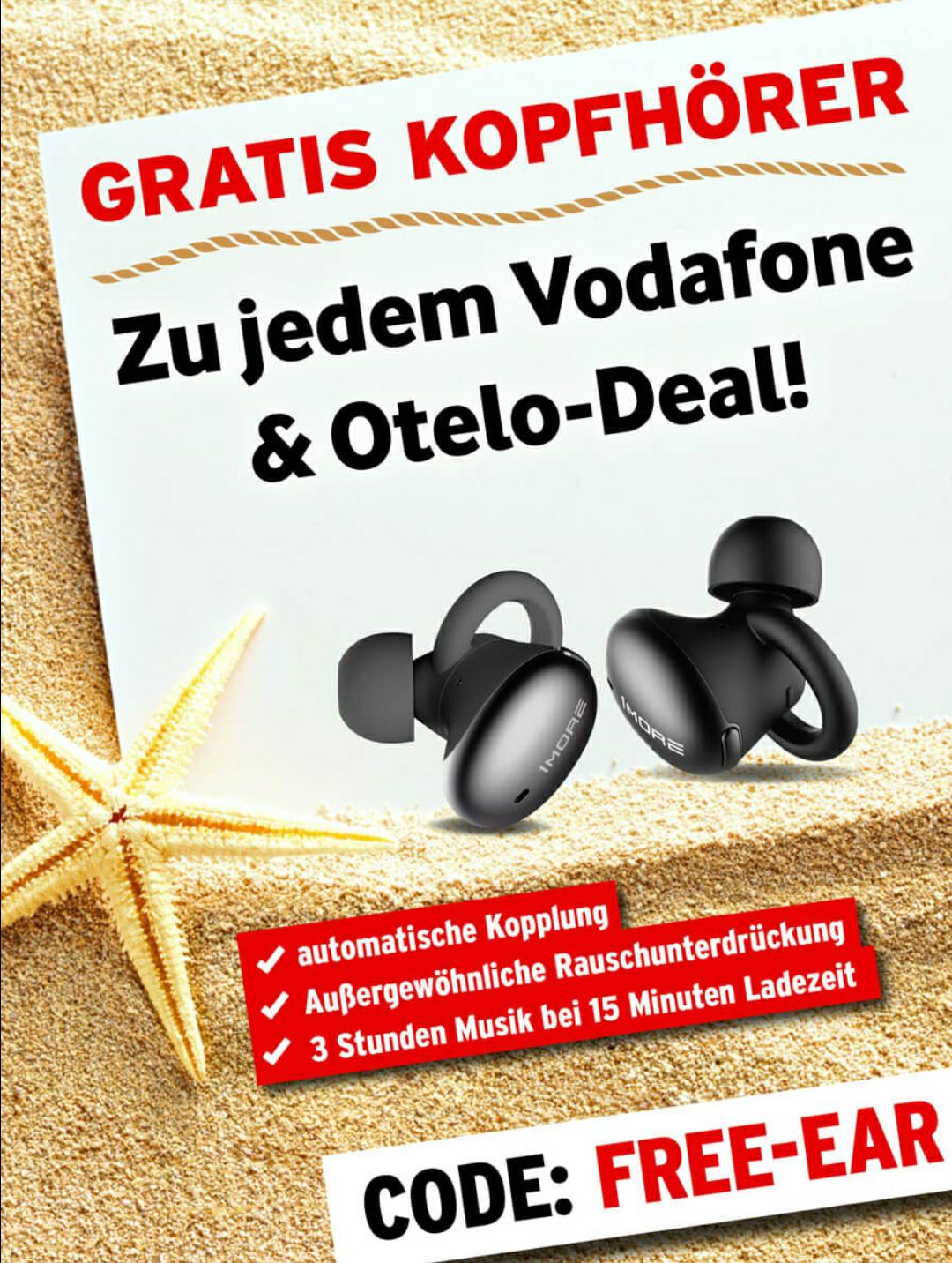 Gratiszugabe Kopfhörer Otelo Vodafone
