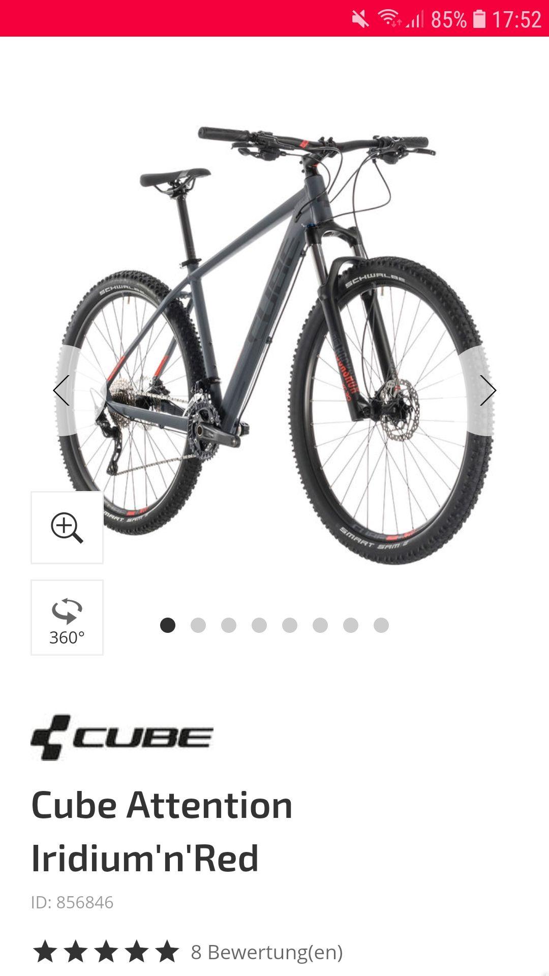 Mtb Cube attention auf fahrrad.de und in den Stores