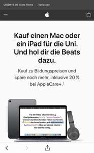 [Unidays] Back To School - qualifizierten Mac/ IPad + Beats Studio3/Solo3 | Apple Care 20% Rabatt