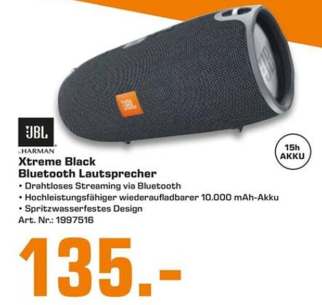 [Lokal: Saturn Halle / Saale] JBL Xtreme Bluetooth Lautsprecher