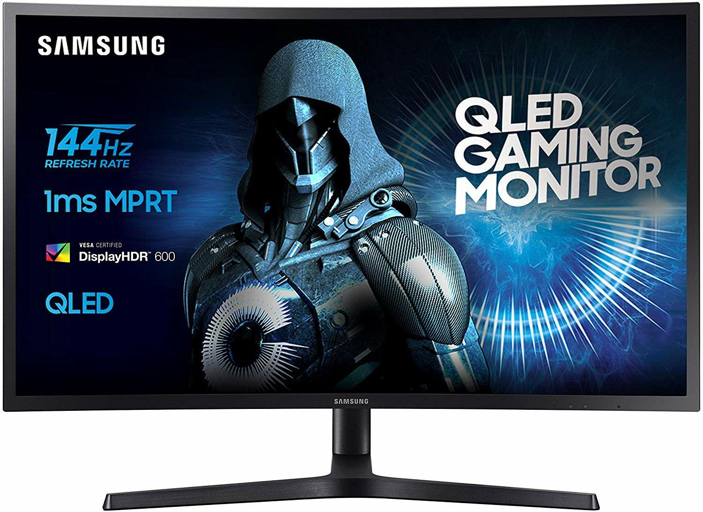 "Samsung C27HG70 Curved Monitor 27"" - 2560x1440 VA, Quantum Dot, HDR 600, 144Hz, 1ms, FreeSync 2, LFC, Höhenverstellung, Pivot, USB Hub (Amazon.it)"