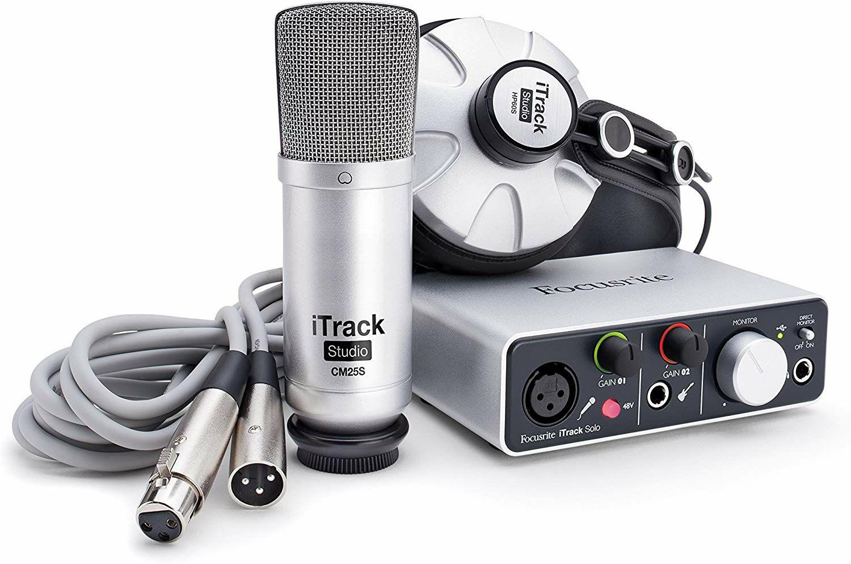 Focusrite iTrack Studio: USB-Audio Interface mit CM25S Kondensatormikrofon und HP60S Kopfhörer