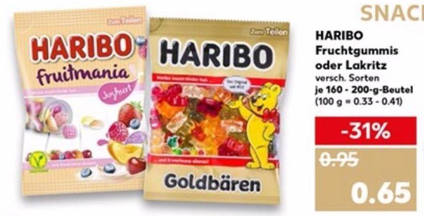 Haribo versch. Sorten für 0,65€ (ab 15.08. Cashback über Martkguru 0,25€) [Hit ab heute / Kaufland ab 15.08. / Aldi ab 16.08.]