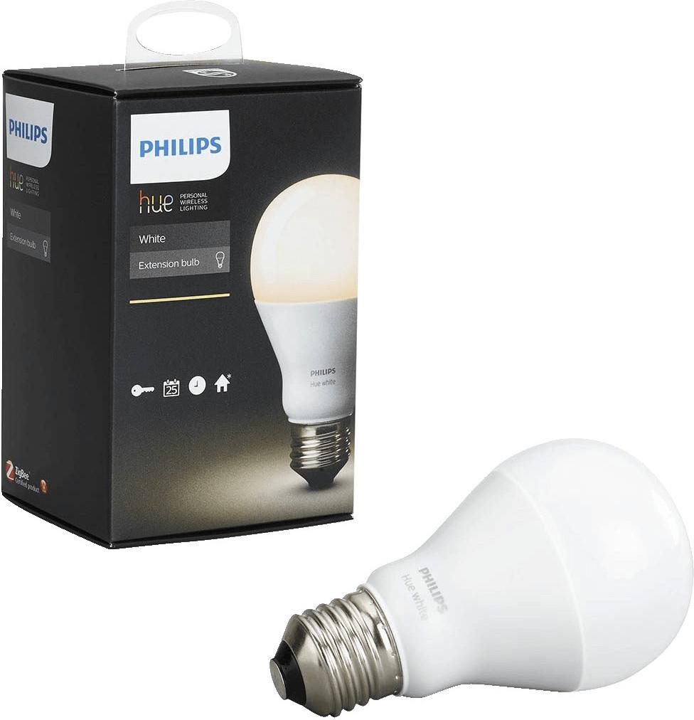 LNS Smarte Beleuchtung: z.B. Erweiterungslampe Philips Hue White E27 9.5W für 11€ oder Hue White E27 Wireless Dimming Kit für 19€