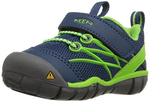 KEEN Unisex-Kinder Chandler CNX Trekking-& Wanderhalbschuhe / Grün Gr.24-31 mit Klettverschluss