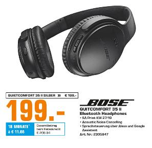 [Saturn Flensburg] Bose QuietComfort 35 II Wireless Kopfhörer,schwarz oder silber für je 199,-€*Bose Stores sollten mitziehen