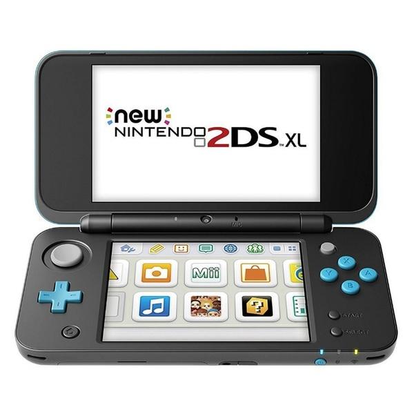 New Nintendo 2DS XL Schwarz Türkise