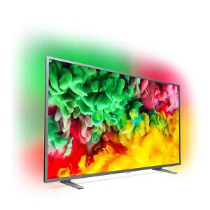 "Philips 55PUS6703 - 55"" 4K UHD Smart TV (Direct LED, 60Hz, 8bit+FRC, 3-seitiges Ambilight, Saphi)"