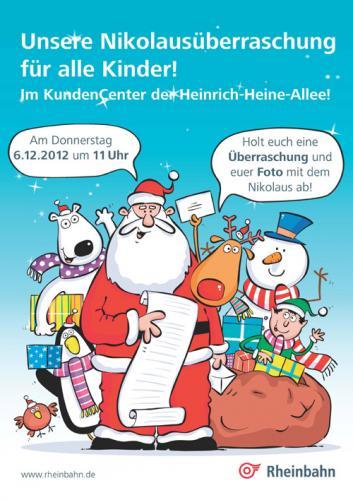 [Lokal Düsseldorf] Nikolausüberraschung und Foto für Kinder im Rheinbahncenter