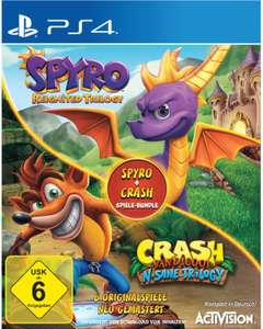 Spyro Reignited Trilogy + Crash Bandicoot N.Sane Trilogy Bundle (PS4) für 29,99€ (Expert)