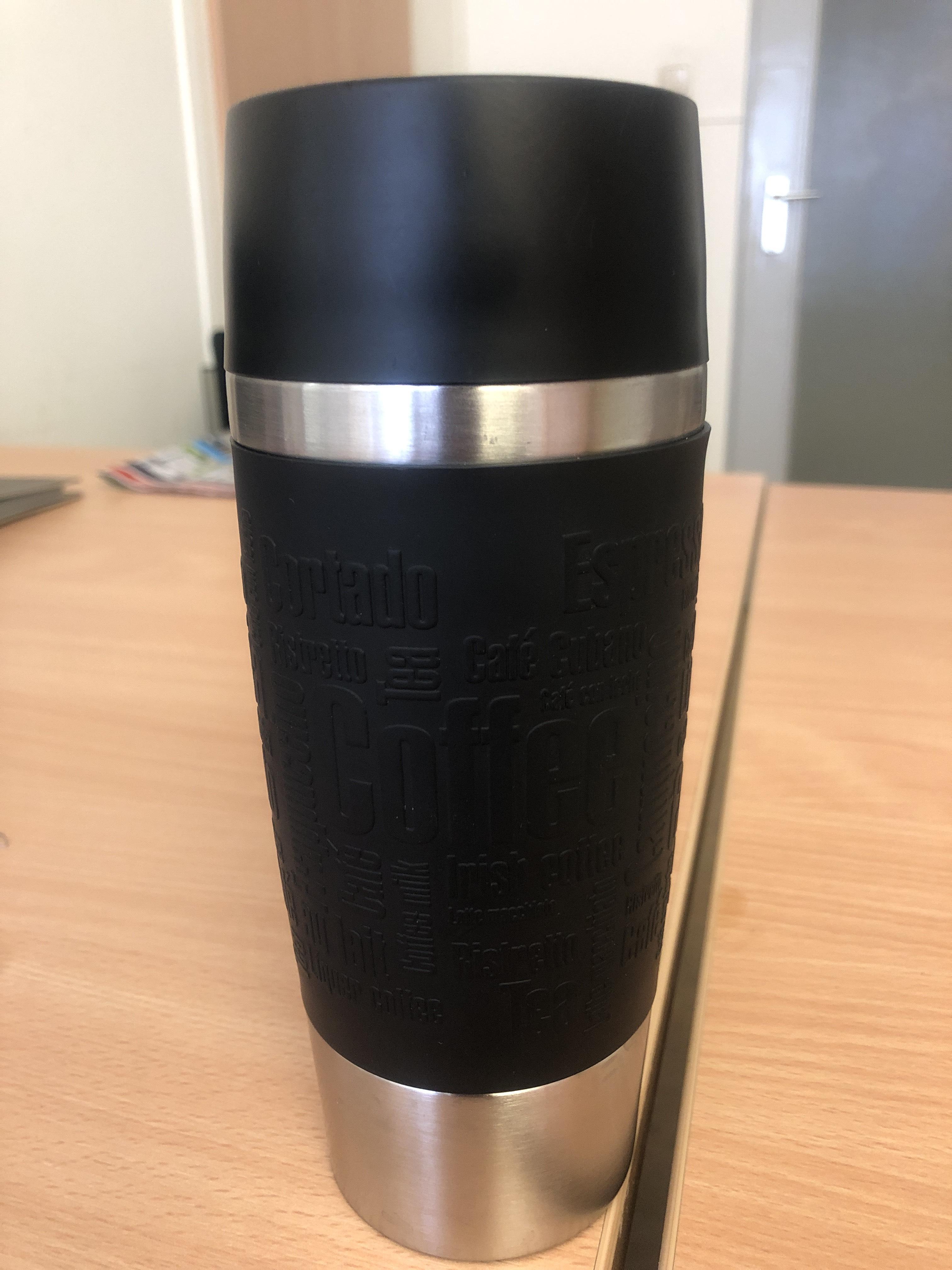 LOKAL FFM Emsa Travelmug 360 ml in lila oder Silber