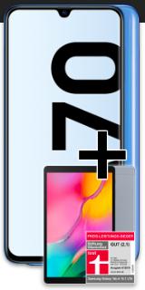 Congstar Allnet Flat (8GB LTE) mtl. 25€ + Samsung Galaxy A70 + Galaxy Tab A für 49€ Zuzahlung (8GB LTE, Allnet- & SMS-Flat, Telekom-Netz)