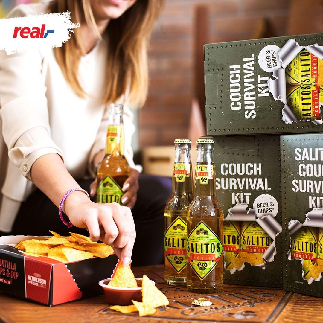 [Lokal Real Bielefeld] Salitos Couch Survival Kit - 2x 0,33l Flasche + Tortilla Chips + Dip für 1,50€