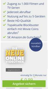 Freenet Video für 0,99 + 5 Euro Amazon Gutschein