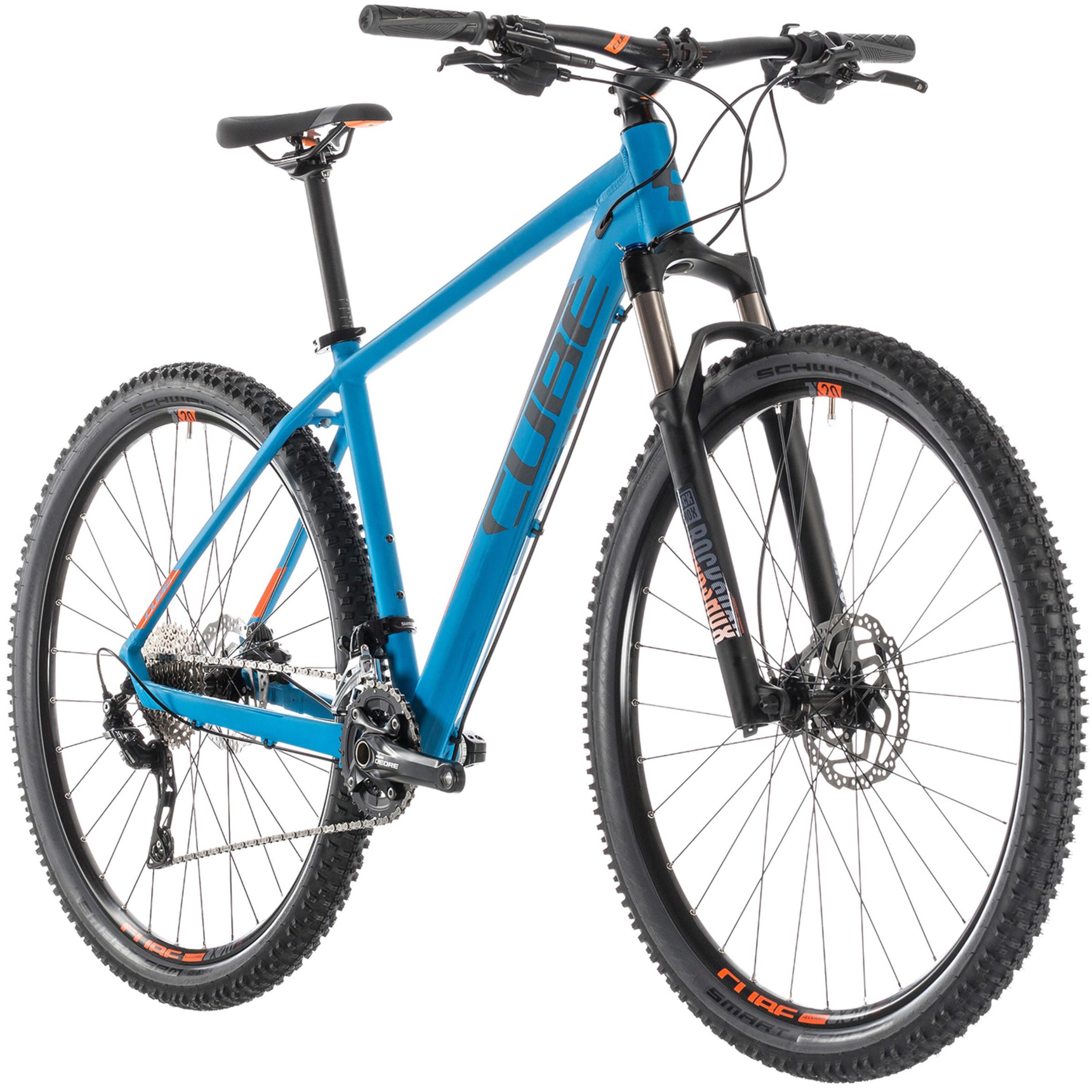 Cube Fahrräder Sale, zB Cube Attention SL Blue'n'Orange Hardtail