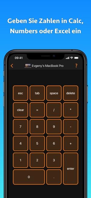 Remote KeyPad NumPad Keyboard für IOS