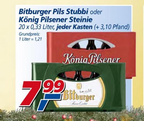 [Trier] Bitburger Pils Stubbi für 7,99€ im real