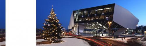 Lokal Stuttgart - heute mit Nikolausmütze **** Eintritt ins Porsche Museum