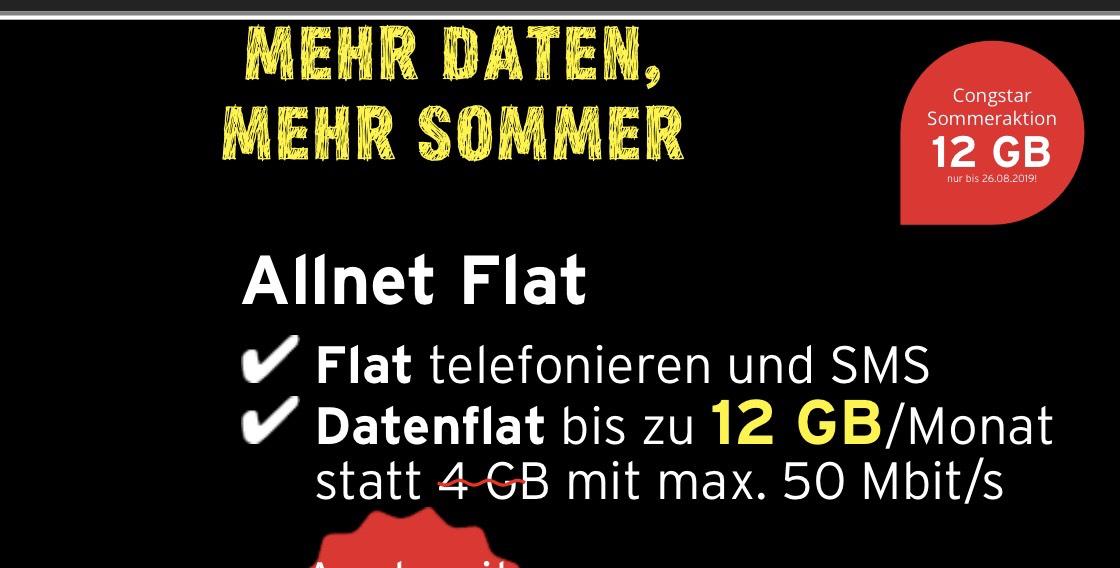 Congstar Allnet Flat Plus (12GB LTE) mtl. 30€ + Apple iPhone 8 64GB für 149€ Zuzahlung (Telekom Netz) Handy Mobilfunkvertrag