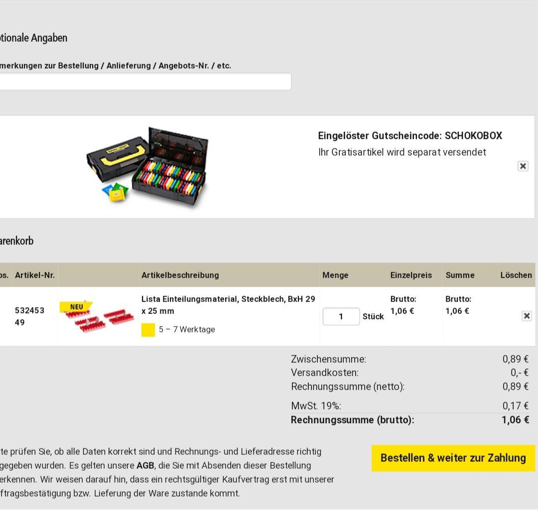 Schokobox zu jeder Bestellung bei Kaiserkraft.de